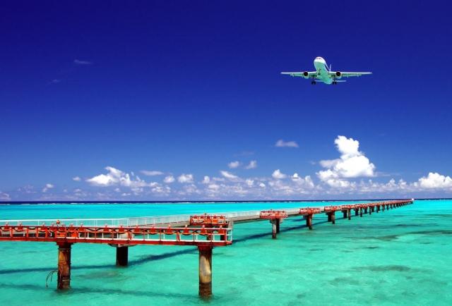 下地島空港の海